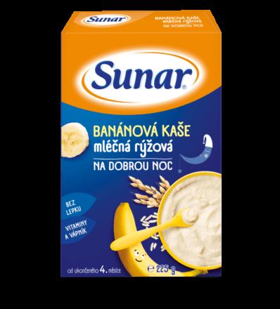 Banánová kaša mliečna ryžová na dobrú noc