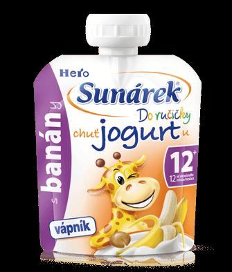 SunárekDo ručičky banán schuťou jogurtu