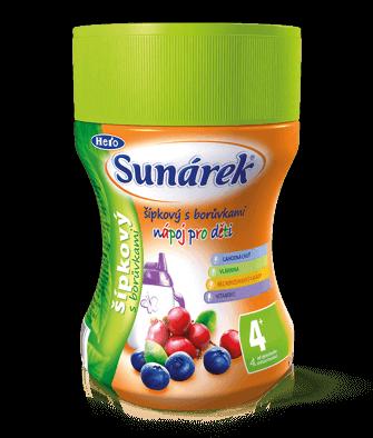 Rozpustný nápoj pre deti šípkový sčučoriedkami