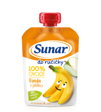 Ovocná kapsička Do ručičky banán ajablko